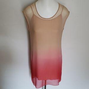 Haute Hippie Ombre Silk Chiffon Dress